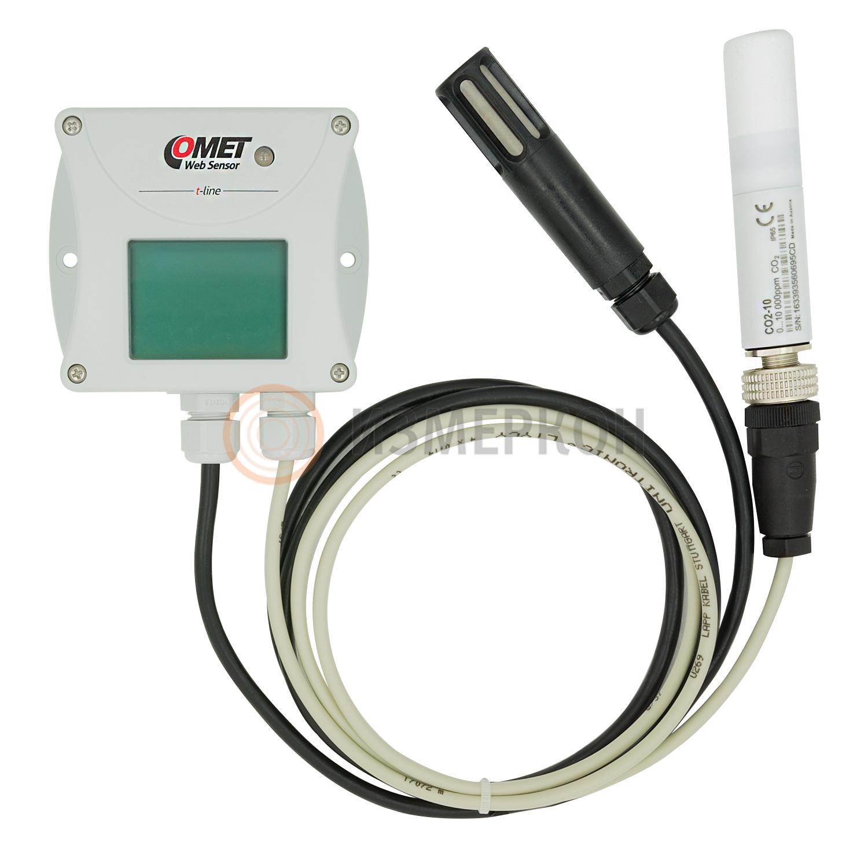 Преобразователь температуры, влажности и концентрации CO2 с выходом Ethernet и внешним зондом. Передача информации по Wi-Fi и GPRS — Датчик T6541