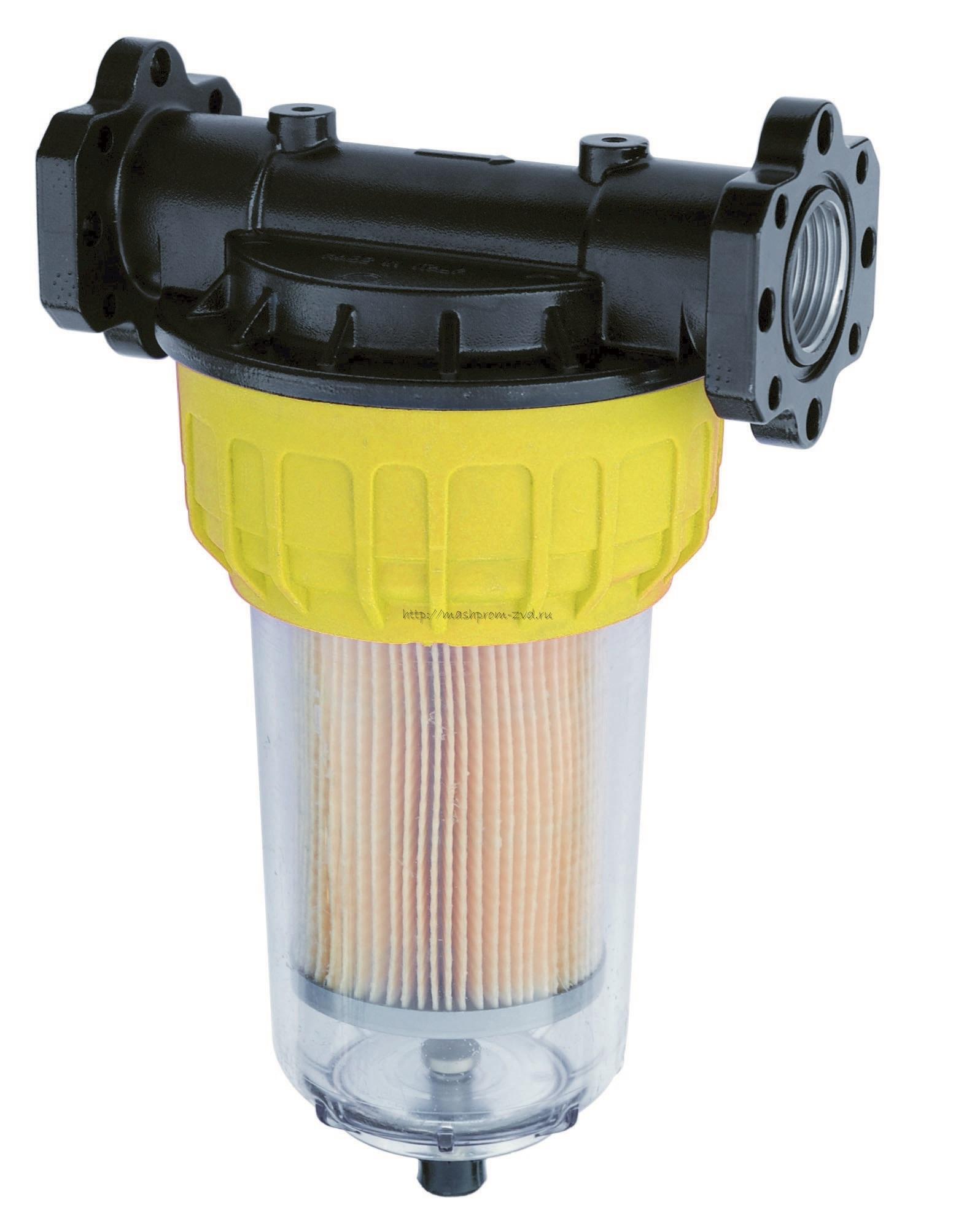 Фильтр PIUSI арт. F00611B10 для очистки от мех.примесей и воды 70 л/мин. 2 карт.